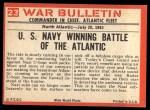 1965 Philadelphia War Bulletin #23  Sole Survivor  Back Thumbnail