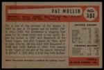 1954 Bowman #151  Pat Mullin  Back Thumbnail