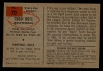 1954 Bowman #70   Tobin Rote Back Thumbnail