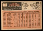 1966 Topps #111   Gary Peters Back Thumbnail