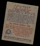1949 Bowman #128   Johnny Vander Meer Back Thumbnail