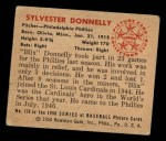 1950 Bowman #176   Sylvester Donnelly Back Thumbnail