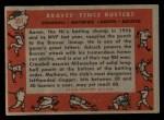 1958 Topps #351  Braves Fence Busters  -  Del Crandall / Eddie Mathews / Hank Aaron / Joe Adcock Back Thumbnail