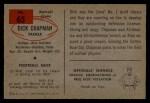 1954 Bowman #65   Dick Chapman Back Thumbnail
