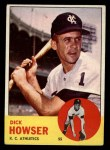 1963 Topps #124   Dick Howser Front Thumbnail