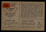 1954 Bowman #109   Ed Sharkey Back Thumbnail