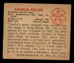 1950 Bowman #211   Charlie Keller Back Thumbnail