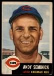 1953 Topps #153  Andy Seminick  Front Thumbnail