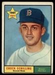 1961 Topps #499   Chuck Schilling Front Thumbnail