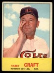1963 Topps #491   Harry Craft Front Thumbnail