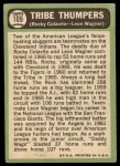 1967 Topps #109  Tribe Thumpers  -  Rocky Colavito / Leon Wagner Back Thumbnail