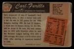 1955 Bowman #169   Carl Furillo Back Thumbnail