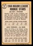 1968 Topps #539   -  Jim Ray / Mike Ferraro Major League Rookies Back Thumbnail