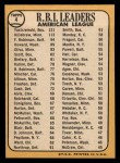 1968 Topps #4  AL RBI Leaders  -  Harmon Killebrew / Frank Robinson / Carl Yastrzemski Back Thumbnail