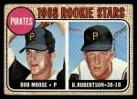 1968 Topps #36  Pirates Rookies  -  Bob Robertson / Bob Moose Front Thumbnail