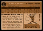 1960 Topps #5   Wally Moon Back Thumbnail