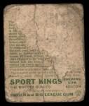1933 Goudey Sport Kings #7   Bobby Walthour Sr Back Thumbnail