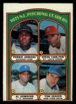 1972 Topps #93  NL Pitching Leaders    -  Steve Carlton / Al Downing / Fergie Jenkins / Tom Seaver Front Thumbnail