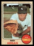 1968 Topps #402   Mike Hegan Front Thumbnail