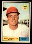1961 Topps #59   Jim Woods Front Thumbnail