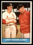 1961 Topps #75  Lindy Shows Larry   -   Larry Jackson / Lindy McDaniel Front Thumbnail