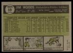1961 Topps #59   Jim Woods Back Thumbnail