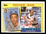 1985 Topps #140   Roy Smalley / Roy Smalley Jr. Front Thumbnail