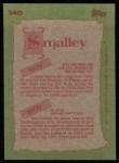 1985 Topps #140   Roy Smalley / Roy Smalley Jr. Back Thumbnail