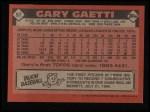 1986 Topps #97   Gary Gaetti Back Thumbnail