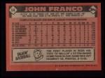 1986 Topps #54   John Franco Back Thumbnail