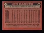 1986 Topps #24  Len Barker  Back Thumbnail