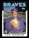 1986 Topps #24  Len Barker  Front Thumbnail