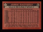 1986 Topps #31   Jamie Easterly Back Thumbnail