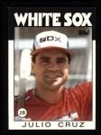1986 Topps #14   Julio Cruz Front Thumbnail