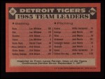 1986 Topps #36   Tigers Leaders  Back Thumbnail