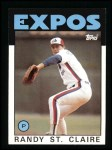 1986 Topps #89  Randy St.Claire  Front Thumbnail