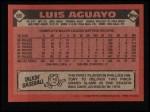 1986 Topps #69   Luis Aguayo Back Thumbnail