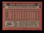 1986 Topps #50   Dan Quisenberry Back Thumbnail