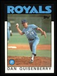 1986 Topps #50   Dan Quisenberry Front Thumbnail