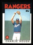 1986 Topps #275   Charlie Hough Front Thumbnail