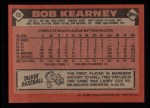 1986 Topps #13   Bob Kearney Back Thumbnail