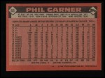 1986 Topps #83   Phil Garner Back Thumbnail