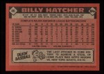 1986 Topps #46   Billy Hatcher Back Thumbnail