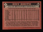 1986 Topps #9   Roy Smith Back Thumbnail