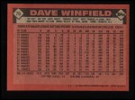 1986 Topps #70  Dave Winfield  Back Thumbnail