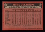 1986 Topps #48  Bill Almon  Back Thumbnail