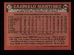 1986 Topps #67   Carmelo Martinez Back Thumbnail