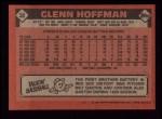 1986 Topps #38   Glenn Hoffman Back Thumbnail