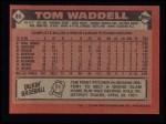 1986 Topps #86   Tom Waddell Back Thumbnail