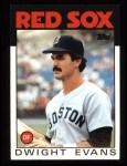 1986 Topps #60   Dwight Evans Front Thumbnail